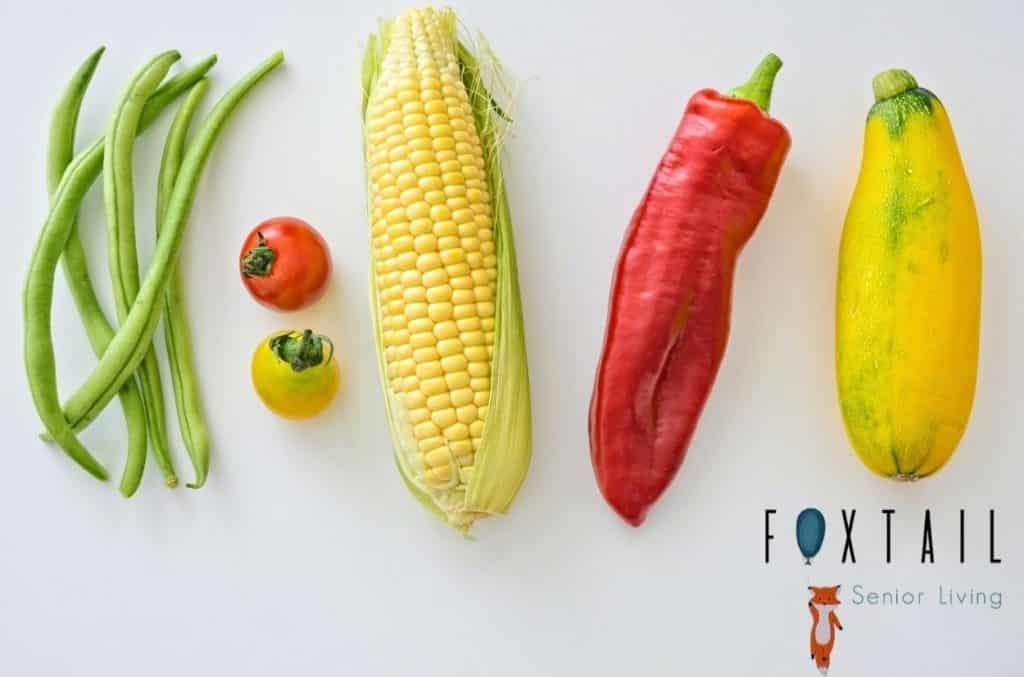 Assortment of different vegetables on a white background